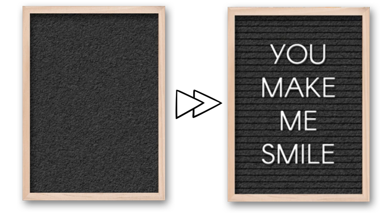 Letterboard with the Line Tool by Jenifer Juris