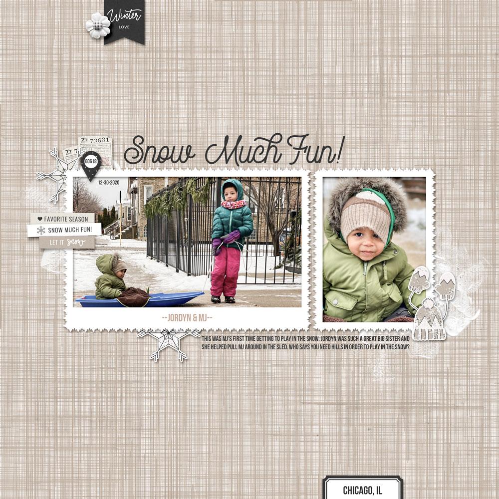 Page: Jenifer Juris Photos: Jodi Finley (sister) Tutorial: Wave Filter Grunge Overlay by Jenifer Juris Kit: Winter Day by Sahin Designs Fonts: Rampage, Bebas Neue