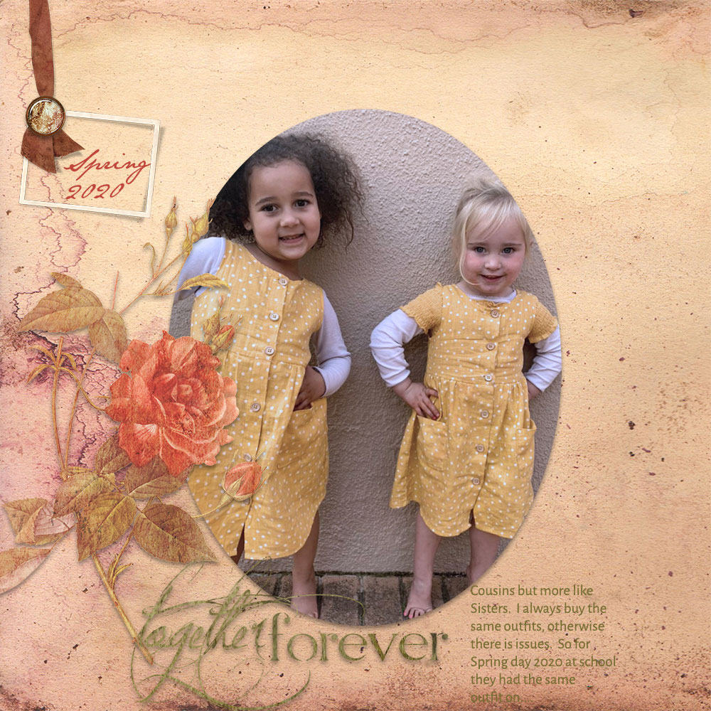 Page & Photo: Together 4ever by Adelle Fourie Tutorial: Neutralize Color Casts by Karen Schulz Kit: Thankful by CottageArts Fonts: JaneAusten; Alegreya Sans