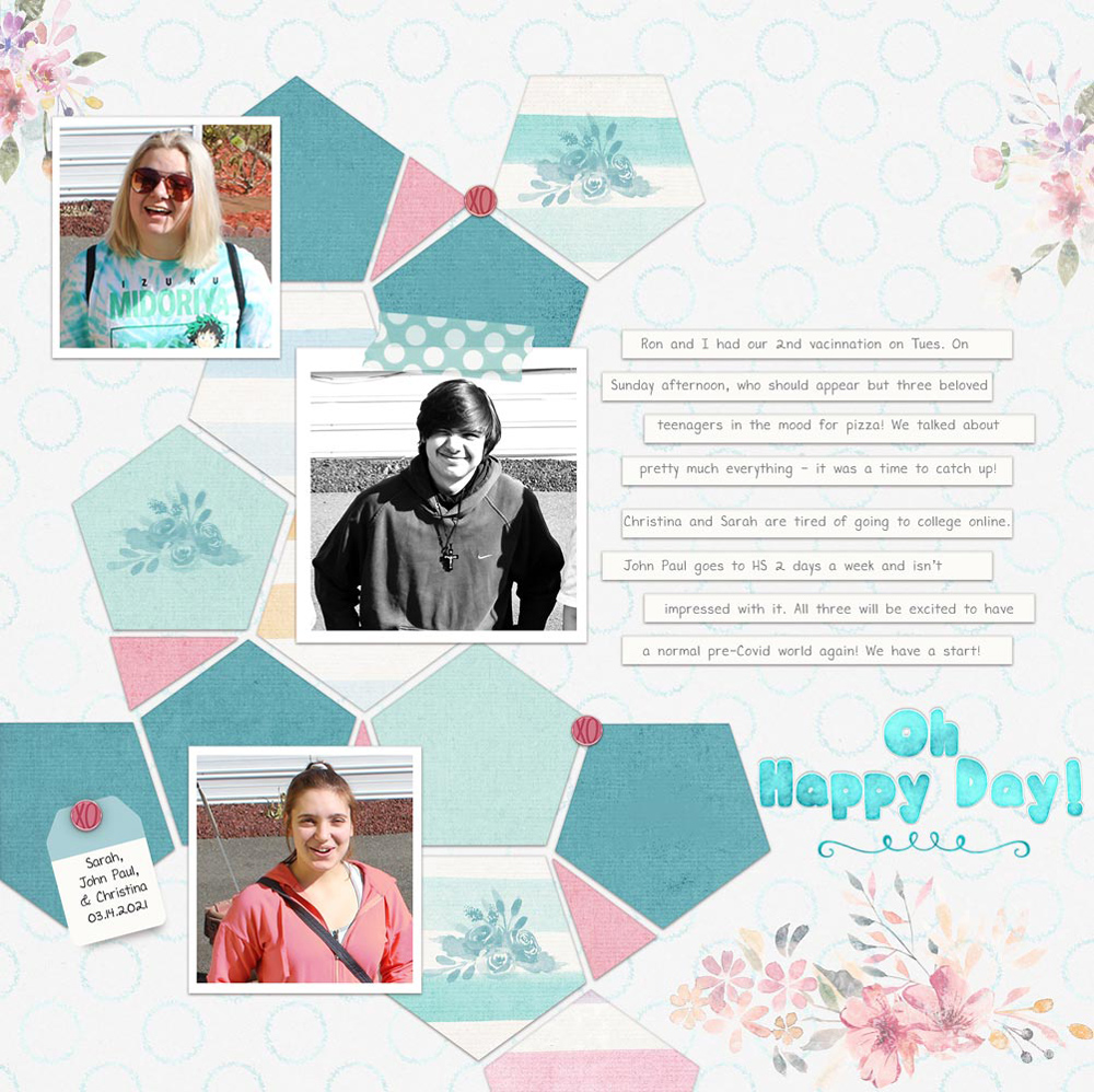 Photo: Ron LaPoint Page: Julie LaPoint Tutorial: Inky Outline with the Ripple Filter by Jenifer Juris Template: Gina Miller Kits: Gina Miller: Polly Stamps, Polly Papers; Designed by Soco: Love, Bloom Fonts: DJB Miss Liz, DJB Hunky Chunk Bold