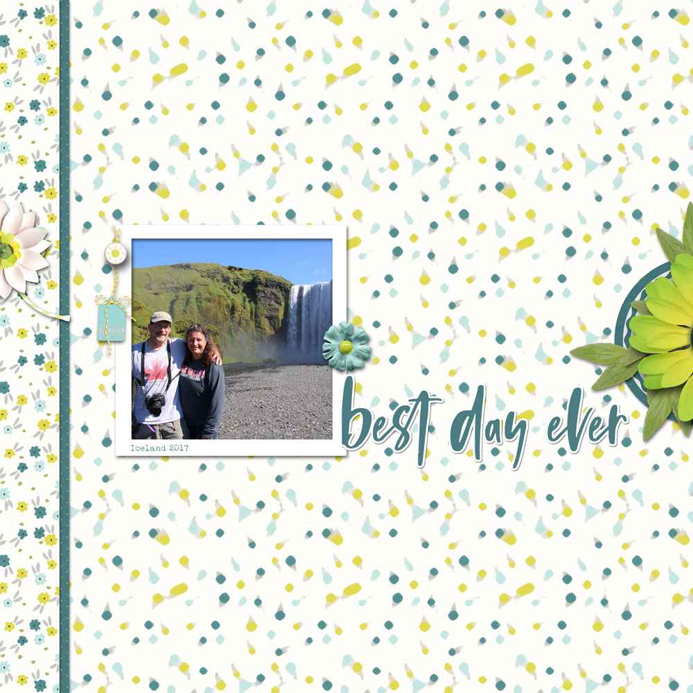 Photo and layout: Val Sleger Tutorial: Abstract Art with the Median Filter by Jenifer Juris Kit: Get Outside collab by Digital Press designers Font: Lucky Typewriter