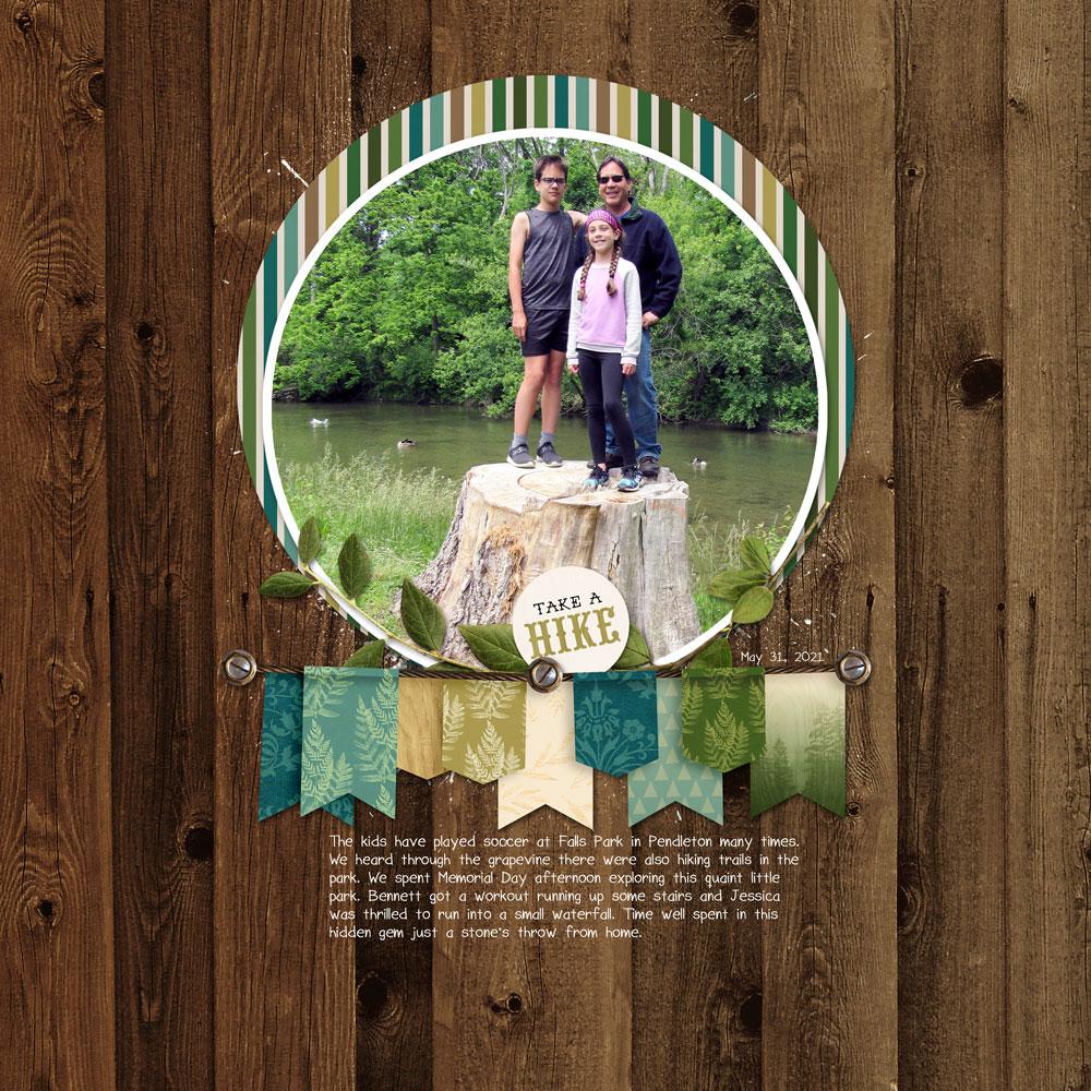 Page & Photo: Julie Singco Tutorial: Offset Frame by Julie Singco Kit: Forest Trails by Kristin Cronin-Barrow Fonts: Sorbet LTD