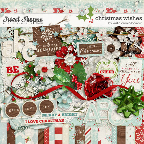 December Premier Kit: Christmas Wishes by Kristin Cronin-Barrow | Digitalscrapper.com